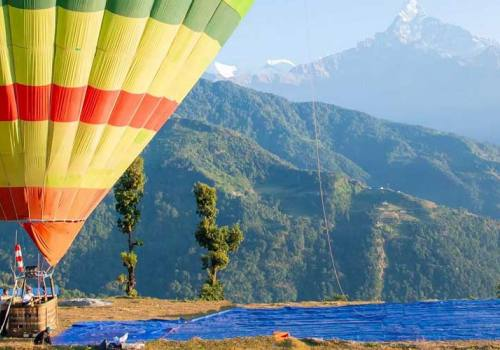 Hot Air Balloon in Nepal