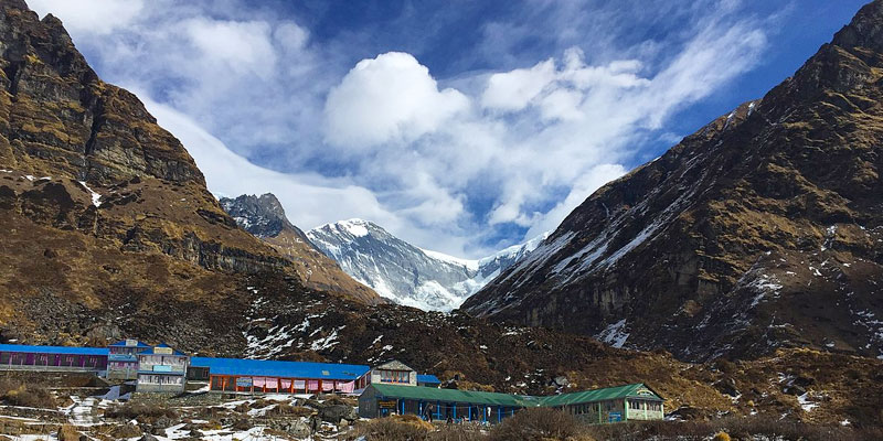 Machhapuchhre Base Camp during Annapurna base camp Trek
