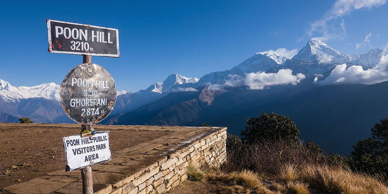 Poonhill (3210m) is one of the major attraction of Annapurna base camp trek.