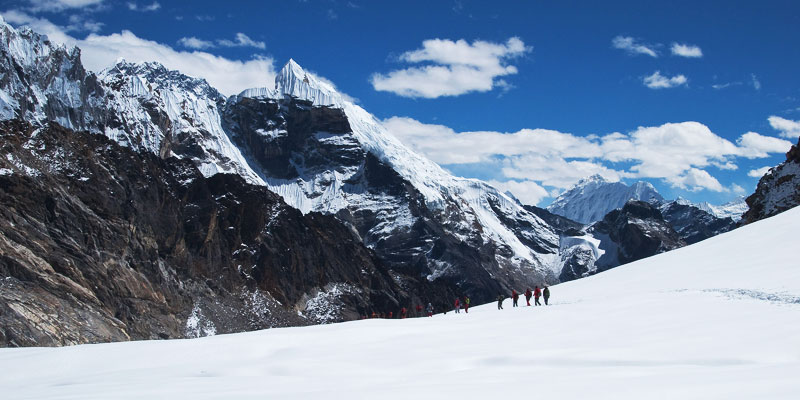 View of Cho La Pass -Everest Three Passes Trek
