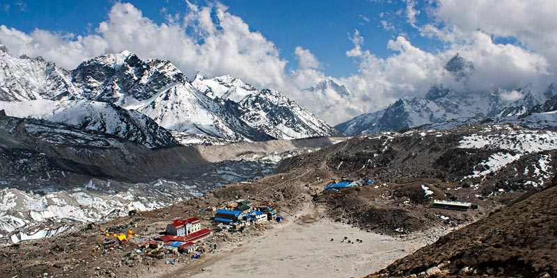 View of Kongma La Pass - Everest three Pass Trek 2019