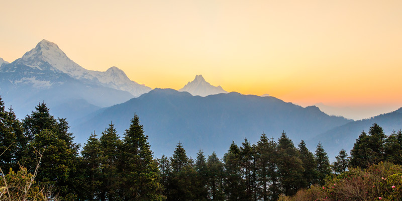 Annapurna Sunrise Trek - Sunrise from Ghorepani Poon hill Trek