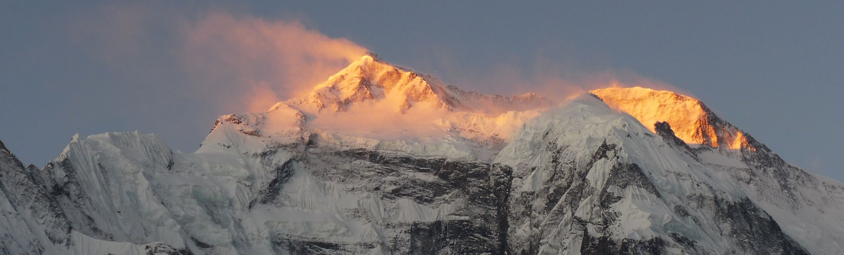 Sunrise view of Annapurna Base Camp Trek,The appealing peak of over 8000 meters from sea level is a massif in the Himalayas.