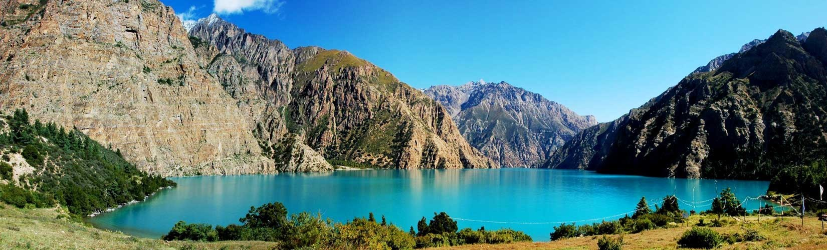 Panaroma of Phoksum Lake | Shot Dolpo Trek | Trekking in Nepal