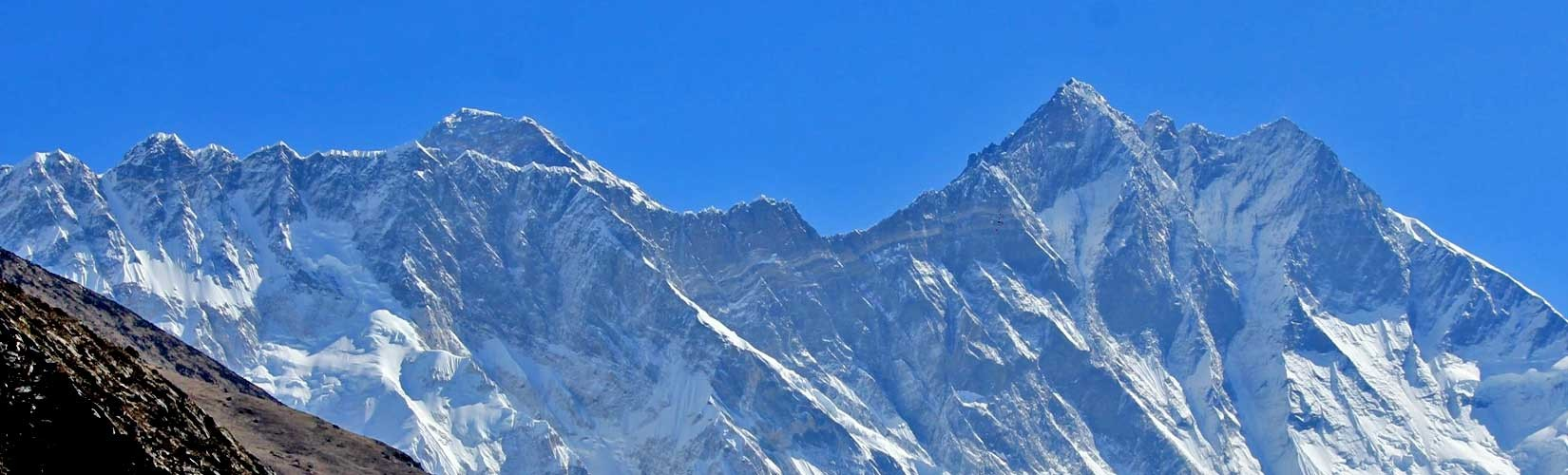 Mt. Lhotse is the fourth highest peak on earth.