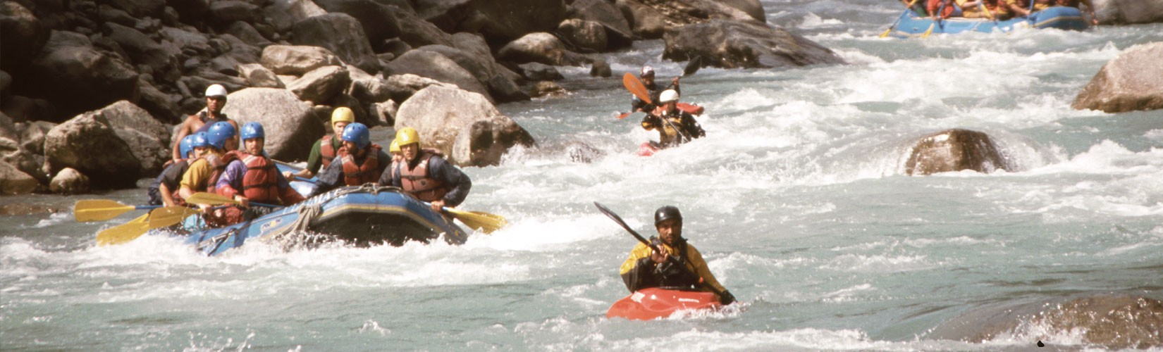 The Bhote Koshi is the upper river course of the Sun Kosi, known as Poiqu in Tibet. Rafting on Bhote Khoshi