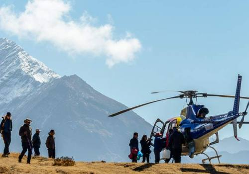 Hotel Everest View to Kathmandu Helicopter