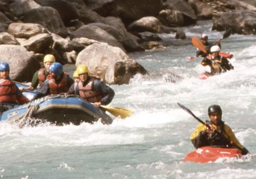Rafting on Bhote Koshi